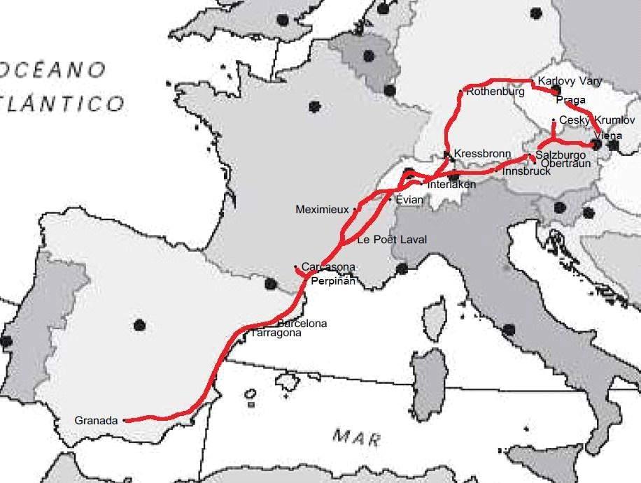 Ruta europa coche 15 dias