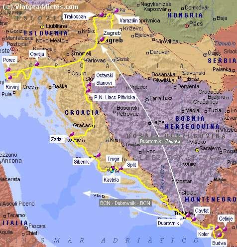 mapa croacia montenegro Croacia y Montenegro: guía y relato de viaje | Viatgeaddictes mapa croacia montenegro
