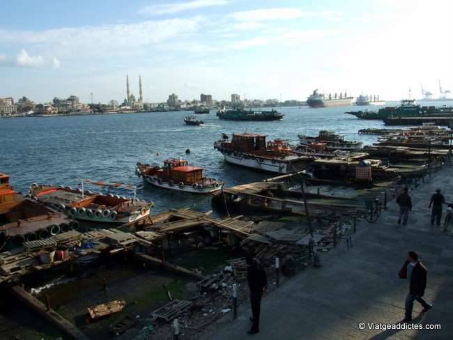 Puerto de Port Said, el Canal y Port Fuad