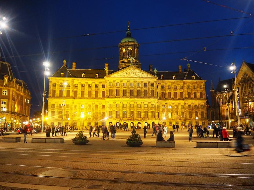 Dam Square by night