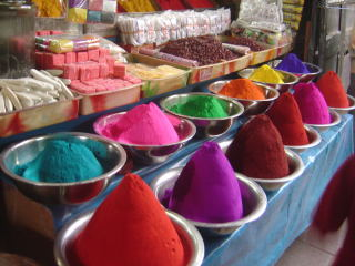 Mercado de colorantes de Mysore