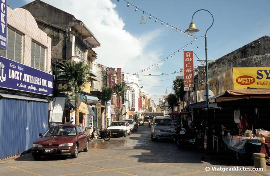Una de las calles de Little India (George Town)