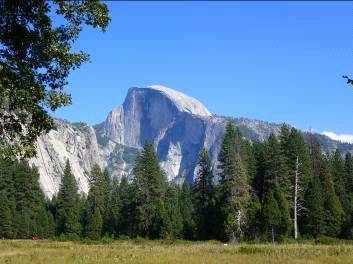 Vista del Half Dome, al Yosemite National Park