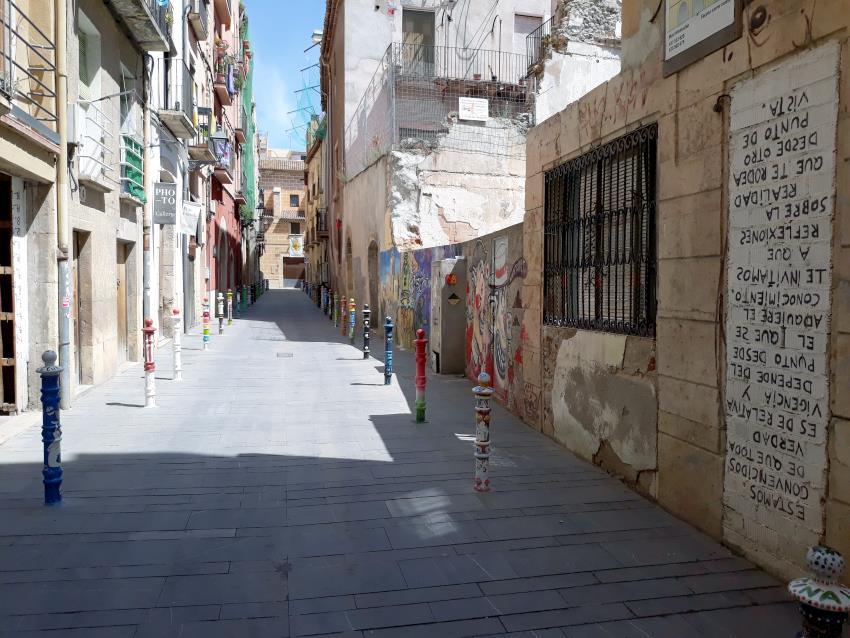 Imatge del carrer Comte, conegut com a Pilon's Street